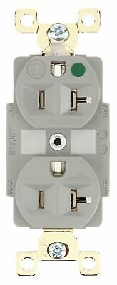 Bryant 20,  Heavy Use Hospital Grade,  Receptacle,  Gray,  No Tamper Resistant