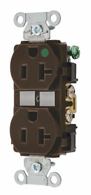 Bryant 20,  Hospital Grade,  Receptacle,  Brown,  No Tamper Resistant Brown