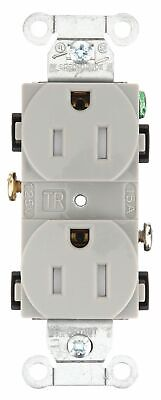 Bryant 15,  Commercial,  Receptacle,  Gray,  Yes Tamper Resistant Gray  Nylon