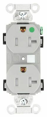 Bryant 20,  Hospital Grade,  Receptacle,  Gray,  Yes Tamper Resistant Gray