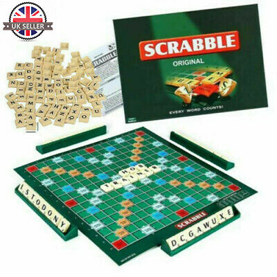 Family Original Scrabble Game Kid Adult Educational Learning Party Game Board UK