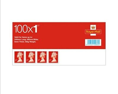 100 x 1st Class Red Stamps Booklet  Brand New ✓ Geniune Barcode ✓Free delivery