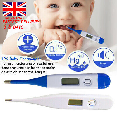 Thermometer for Adults and Kid Digital LCD Baby Body Thermometers for Ear Mouth