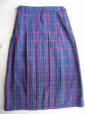 Girls Pleated School Check Skirt Uniform size 10 Brand New
