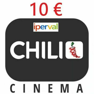 CHILI Cinema 10 euro Buono Coupon Noleggio Film Codice Gift NO booking flixbus