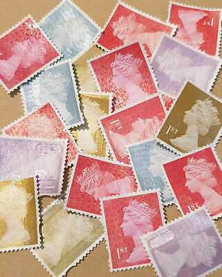 500 1st First Class Unfranked Off Paper Stamps. Mixed VGC (£350FV) #LOT5