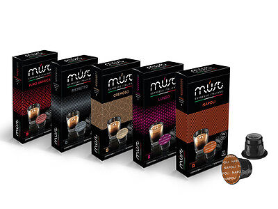100 Nespresso Compatible Coffee Capsules- 100 Must Espresso Variety pack