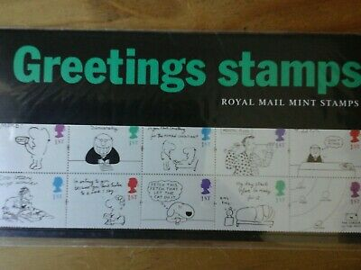 1995 Gb Greetings Stamps Presentation Pack G5 10 X 1St Class Stamps Mnh