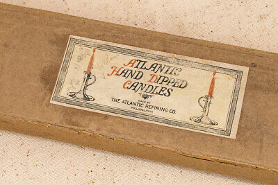 """Vintage Atlantic Refining Co. Hand-dipped 20"""" x 3/4"""" Tapered Candles"""