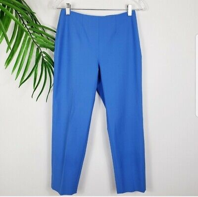 Piazza Sempione Women's Audrey Cropped Pants MSRP $425 Blue Stretch 4 US 40 IT