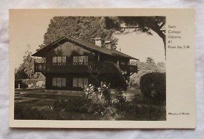 Ministry of Works POSTCARD - SWISS COTTAGE, OSBORNE House, Isle of Wight