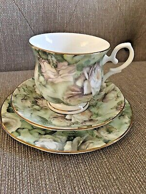 Maxwell & Williams Misty Rose Fine Bone China Cup, Saucer and Tea Plate Set