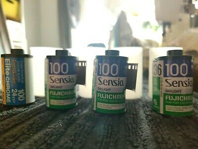 4 Rolls Of Expired 35mm Slide Film Fujichrome Kodak Lomography