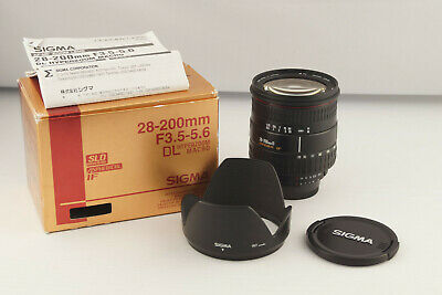 Sigma AF 28-200mm 1:3.5-5.6 DL Hyperzoom Macro Nikon F Mount OVP # 5267