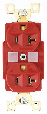 Bryant 20,  Harsh and Heavy Use Industrial,  Receptacle,  Red,  No Tamper