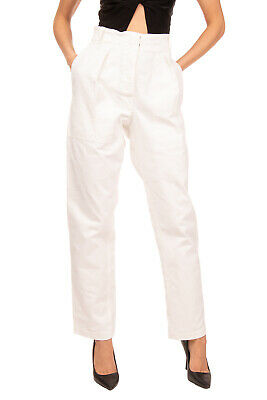 RRP €205 ISABEL MARANT ETOILE Gabardine Trousers Size 2 Stretch Pleated Front