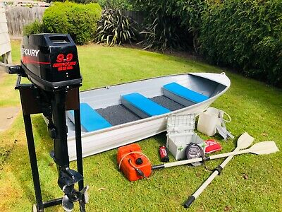 Tinnie 3.3mt with 9.9hp Outboard Motor