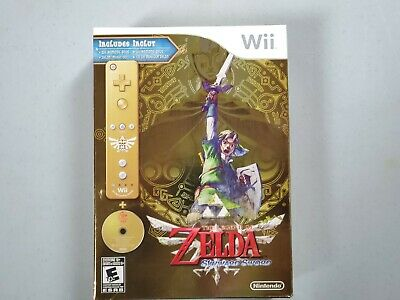 The Legend of Zelda: Skyward Sword w/ Gold Controller (Nintendo Wii, 2011)