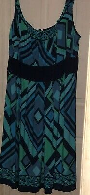 Rm Richards Blue Abstract Dress Size 22w