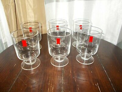 Vintage Michelob Beer Glass Set 6 RARE Excellent Condition