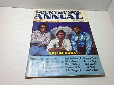 Vintage Country Song Roundup Annual 1980 Gatlin Bros. Loretta Lynn & More...