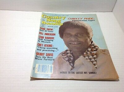 Vintage Country Song Roundup Magazine Aug 1980 Charley Pride Hank Snow & More