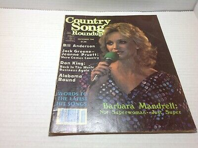 Vintage Country Song Roundup Magazine Dec 1980 Barbra Mandrell Jeanne Pruett