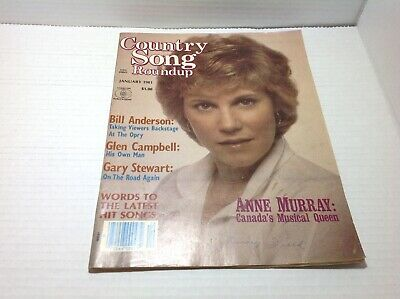 Vintage Country Song Roundup Magazine Jan 1981 Anne Murray Bill Anderson & More