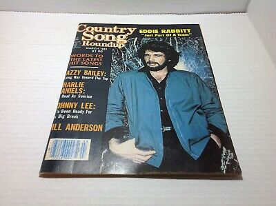 Vintage Country Song Roundup Magazine Mar 1981 Eddie Rabbitt Dottsy & More