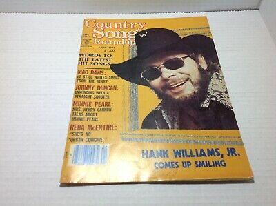 Vintage Country Song Roundup Magazine Apr 1981 Hank Williams Jr. Mac Davis more
