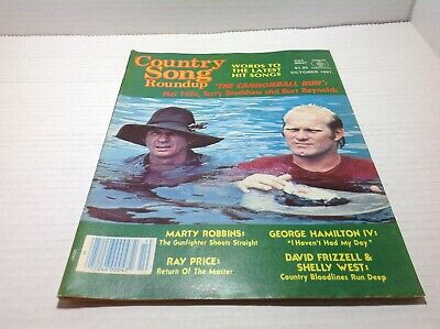 Vintage Country Song Roundup Magazine Oct 1981 Cannonball Run Burt Reynolds more