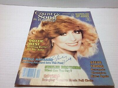 Vintage Country Song Roundup Magazine Dec 1981 Dottie West Statler Bros. & More