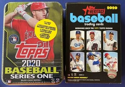 Baseball Card Box Lot Mike Trout Collectible Tin Brand New 2020 Topps Heritage