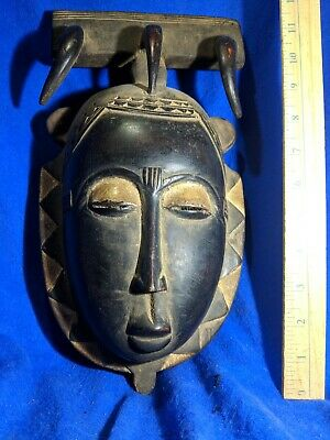 Portrait Mask with Large Carved Talons — Authentic Carved Wood African Art