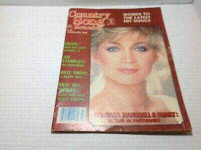 Vintage Country Song Roundup Magazine Feb1982 Barbara Mandrell Billy Joe Shaver