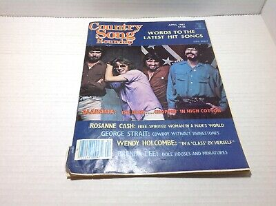 Vintage Country Song Roundup Magazine Apr 1982 Alabama George Strait & More