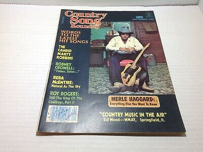 Vintage Country Song Roundup Magazine Sep 1982  Merle Haggard Reba McEntire more