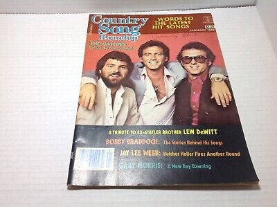 Vintage Country Song Roundup Magazine Jan 1983 The Gatlins Bobby Braddock & More
