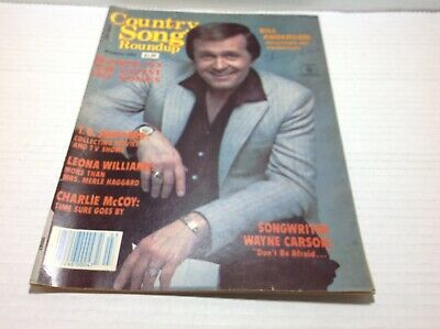 Vintage Country Song Roundup Magazine Mar 1983  Bill Anderson T.G. Sheppard More