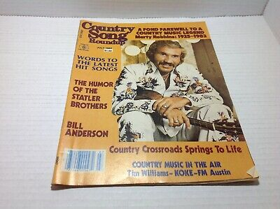 Vintage Country Song Roundup Magazine July 1983 Marty Robbins Statler Bros More