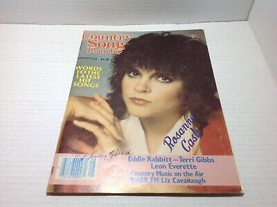 Vintage Country Song Roundup Magazine Aug 1983 Rosanne Cash Eddie Rabbit & More