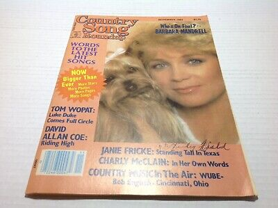 Vintage Country Song Roundup Magazine Nov 1983 Barbara Mandrell Tom Wopat & More