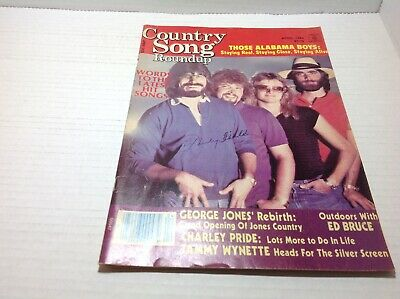 Vintage Country Song Roundup Magazine Apr 1984 Alabama George Jones & More