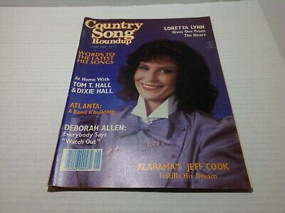 Vintage Country Song Roundup Magazine Jun 1984 Loretta Lynn To T. Hall & More