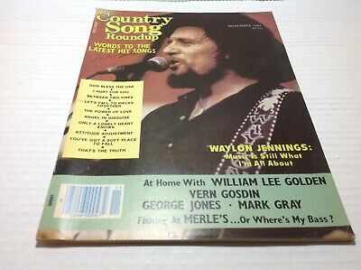Vintage Country Song Roundup Magazine Nov 1984 Waylon Jennings George Jones