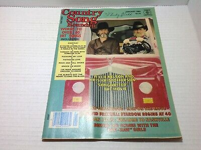Vtg Country Song Roundup Magazine Jan 1985 Willie Nelson Kris Kristofferson