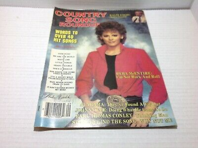 Vtg Country Song Roundup Magazine Sept 1985 Reba Johnny Lee & More