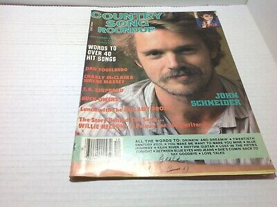 Vtg Country Song Roundup Magazine Dec 1985 John Schneider Sylvia Buck Owen& More