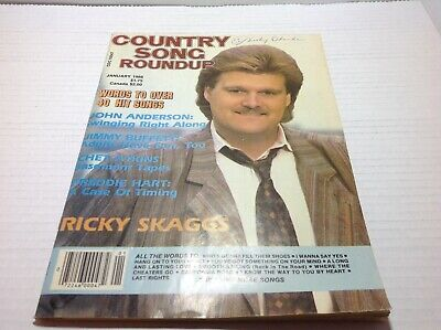 Vtg Country Song Roundup Magazine Jan 1986 Ricky Skaggs John Anderson & More