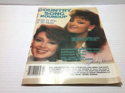 Vtg Country Song Roundup Magazine Mar 1986 The Judds Neil Young & More